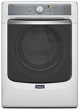 MGD7100DW Maytag Maxima 7.4 cu. ft. Steam Gas Dryer with Large Capacity and Stainless Steel Dryer Drum - White
