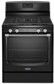 MGR8600DE Maytag 5.8 Cu. Ft. Gas Freestanding Range with Stainless Steel Handles - Black