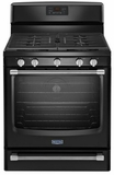 MGR8700DB Maytag Gas Freestanding Range with Convection Oven - 5.8 cu. ft. - Black with Black Handles