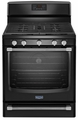 MGR8700DE Maytag Gas Freestanding Range with Convection Oven - 5.8 cu. ft. - Black with Silver Handles