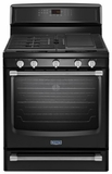 MGR8800DE Maytag Gas Freestanding Stove with Griddle - 5.8 cu. ft. - Black with Silver Handles