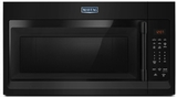 """MMV1174FB Maytag 30"""" 1.7 cu. ft. Capacity Over the Range Microwave with 1000 Cooking Watts and 300 CFM - Black"""
