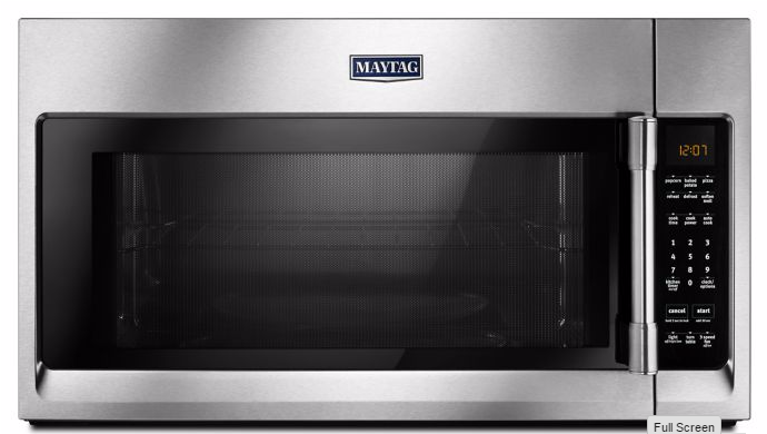 Mmv4206fz Maytag Over The Range Microwave With Interior Cooking Rack Fingerprint Resistant Stainless Steel