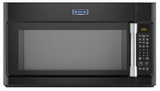 MMV5219DE Maytag 2.1 cu. ft. Large Over-the-Range Microwave with WideGlide Tray - Black with Stainless Handle