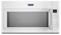 MMV5219DH Maytag 2.1 cu. ft. Large Over-the-Range Microwave with WideGlide Tray - White with Stainless Handle