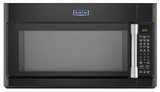 MMV6190DE Maytag 1.9 cu. ft. Over-the-Range Microwave with EvenAir Convection Mode - Black with Stainless Handle