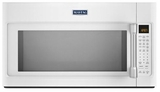 MMV6190DH Maytag 1.9 cu. ft. Over-the-Range Microwave with EvenAir Convection Mode - White with Stainless Handle