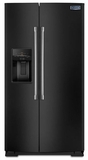 MSB26C6MDE Maytag 26 cu. ft. Side-by-Side Refrigerator with Standard Depth Styling - Black with Stainless Handles