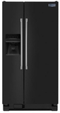 MSF21D4MDE Maytag 21 cu. ft. Side-by-Side Refrigerator with Ice & Water Dispenser - Black