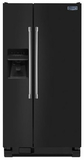 MSF25D4MDE Maytag 25 cu. ft. Side-by-Side Refrigerator with Ice & Filtered Water Dispenser - Black with Stainless Handles
