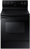 "NE59J7630SB Samsung 5.9 Cu. Ft. Electric 30"" Freestanding Range with True Convection - Black"