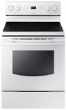"NE59J7630SW Samsung 5.9 Cu. Ft. Electric 30"" Freestanding Range with True Convection - White"