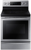 "NE59J7650WS Samsung 5.9 Cu. Ft. 30"" Electric Range with True Convection and Soft Close Door - Stainless Steel"