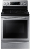 "NE59J7750WS Samsung 5.9 cu. ft. Freestanding 30"" Flex Duo Electric Range with Dual Convection Oven - Stainless Steel"
