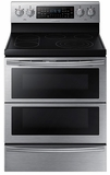 "NE59J7850WS Samsung 30"" Electric Flex Duo Range with Soft Close & Dual Door - Stainless Steel"
