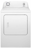 "NGD4655EW Amana 29"" 6.5 Cu. Ft. Top-Load Dryer with Automatic Dryness Control - White"