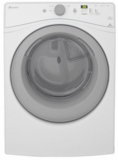 "NGD5800DW Amana 27"" Gas Dryer with 7.3 cu. ft. Capacity 5 Drying Cycles and Efficiency Monitor - White"