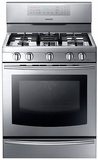 NX58F5700WS Samsung 5.8 Cu. Ft. Freestanding Gas Range with True Convection - Stainless Steel