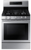 """NX58J7750SS Samsung Gas Flex Duo 30"""" Range with Griddle and Wok Grate - Stainless Steel"""