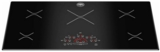"P365IME Bertazzoni 36"" Induction Cooktop with 5 Cooking Zones 3,600 Watts Heat Booster Function - Black"