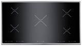 "P365IX Bertazzoni Built-in Design Series 36"" Cooktop - 5 Induction Zones - Black with Stainless Trim"