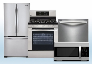 Package 1 - LG Appliance Package - 4 Piece Appliance Package - Stainless Steel - Gas