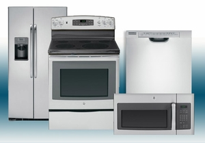 Package 12 - GE Builder's Special Package - 4 Piece Appliance Package - Stainless Steel - Electric