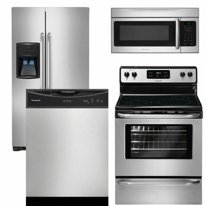 Package 13 - Frigidaire Appliance Package - 4 Piece Appliance Package - Stainless Steel - Electric