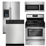 Package 14 - Frigidaire Appliance Package - 4 Piece Appliance Package - Stainless Steel - Gas
