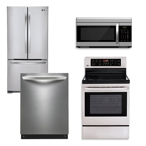 Kitchenaid 4 Piece Kitchen Appliance Package With Electric: LG Appliance Package