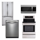 Package 2 - LG Appliance Package - 4 Piece Appliance Package with Electric Range - Stainless Steel