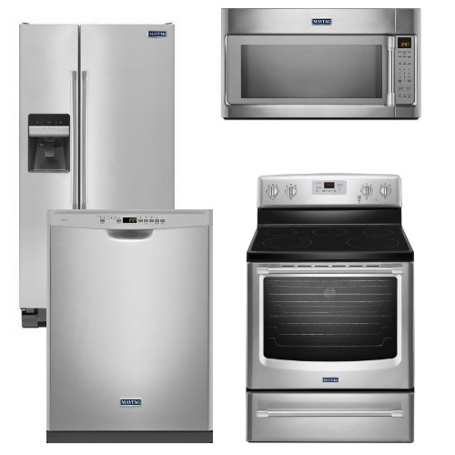 Package 28 - Maytag Appliance Package - 4 Piece Appliance Package - Stainless Steel - Electric