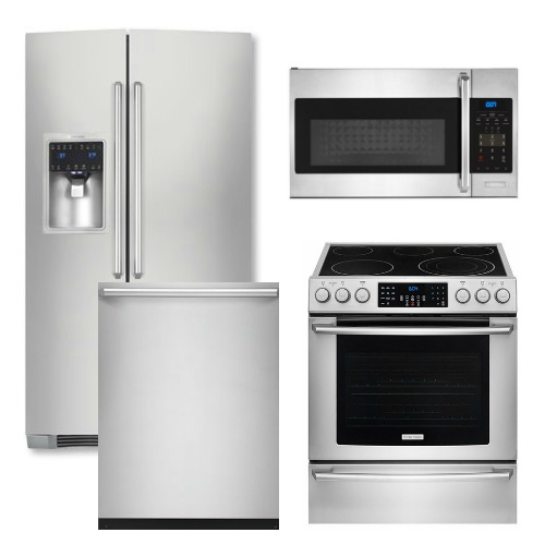 Kitchenaid 4 Piece Kitchen Appliance Package With Electric: Electrolux Appliance Package