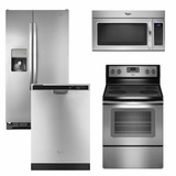 Package 7 - Whirlpool Appliance Package - 4 Piece Appliance Package - Stainless Steel - Electric