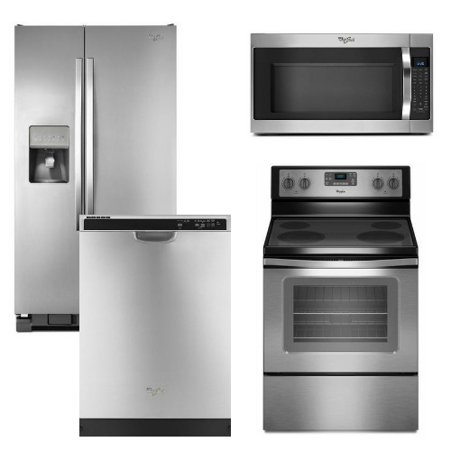 Kitchenaid 4 Piece Kitchen Appliance Package With Electric: Whirlpool Appliance Package