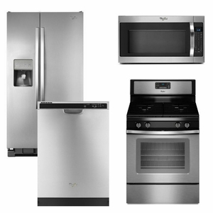 Package 8 - Whirlpool Appliance Package - 4 Piece Appliance Package - Stainless Steel - Gas