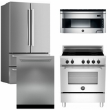 Package Bert2 - Bertazzoni Appliance Package - 4 Piece Luxury Package - Stainless Steel - Induction - Electric