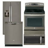 Package 36 - GE Appliance Package - 4 Piece Appliance Package - Slate - Electric