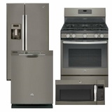 Package 37 - GE Appliance Package - 4 Piece Appliance Package - Slate - Gas