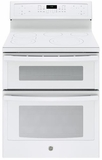 "PB960TJWW GE Profile Series 30"" Free-Standing Electric Double Oven Convection Range with Edge-to-edge Cooktop - White"