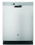 "PDF820SJSS 24"" GE Profile Series Dishwasher with Front Controls and Bottle Jets - Stainless Steel"