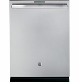 PDT750SSFSS GE Stainless Steel Interior Dishwasher with Hidden Controls - Stainless Steel