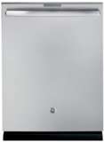 """PDT846SSJSS GE 24"""" Built In Fully Integrated Dishwasher with 7 Wash Cycles and 16 Place Settings - Stainless Steel"""