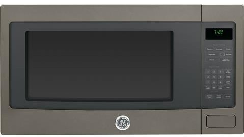 PEB7226EHES GE Profile Series 2.2 Cu. Ft. Countertop Microwave Oven with Sensor Cooking - Slate