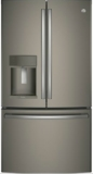 "PFE28KMKES GE Profile 36"" 27.8 Cu. Ft. French Door Refrigerator with 4 Adjustable Glass Shelves and 6 Door Bins - Slate"