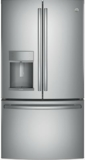 "PFE28KSKSS GE Profile 36"" 27.8 Cu. Ft. French Door Refrigerator with 4 Adjustable Glass Shelves and 6 Door Bins - Stainless Steel"