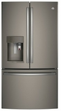 "PFE28PMKES GE Profile 36"" 27.8 Cu. Ft. French Door Refrigerator with 4 Adjustable Glass Shelves and Drop Down Tray - Slate"