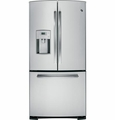"PFS23KSHSS GE Profile Series 22. Cu. Ft. 33"" Wide French-Door Refrigerator with Humidity Drawers - Stainless Steel"
