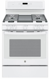 "PGB911DEJWW GE Profile Series 30"" Free-Standing Gas Convection Range with Edge-to-edge Cooktop - White"