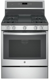 "PGB911SEJSS GE Profile Series 30"" Free-Standing Gas Convection Range with Edge-to-edge Cooktop - Stainless Steel"